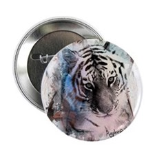 """Pastel Painted Tiger 2.25"""" Button"""