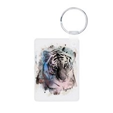 Pastel Painted Tiger Keychains