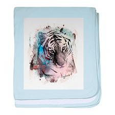 Pastel Painted Tiger baby blanket