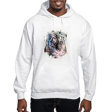 Pastel Painted Tiger Hoodie