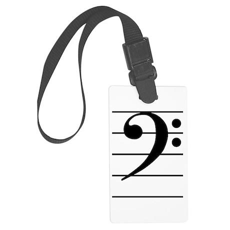 F clef Large Luggage Tag