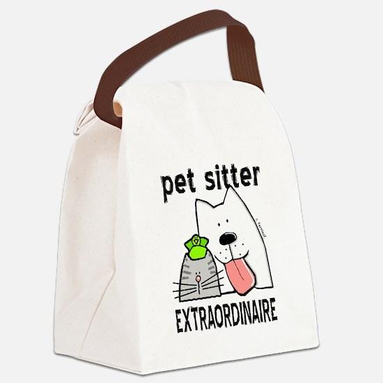 Pet Sitter Extraordinaire Canvas Lunch Bag