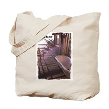 Esalen tub on room deck Tote Bag
