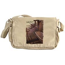Esalen tub on room deck Messenger Bag