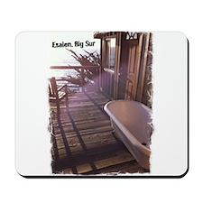 Esalen tub on room deck Mousepad