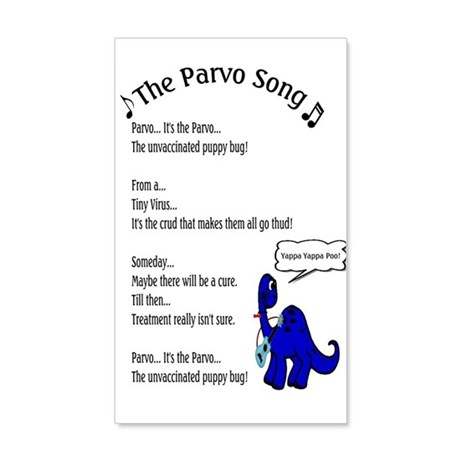 The Parvo Song 20x12 Wall Decal