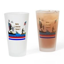 Native_American_Veterans Drinking Glass