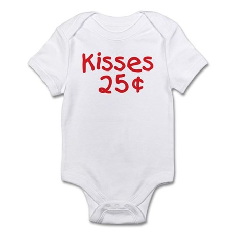 Funny Valentine Kisses Infant Bodysuit