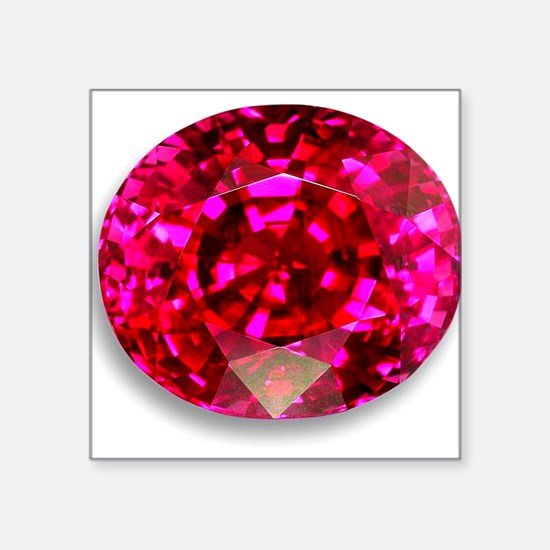 "Ruby Square Sticker 3"" x 3"""
