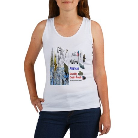 Military Native Americans Women's Tank Top