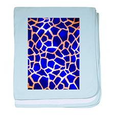 Electric Blue Giraffe Pattern baby blanket