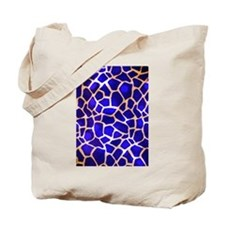 Electric Blue Giraffe Pattern Tote Bag