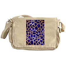 Electric Blue Giraffe Pattern Messenger Bag
