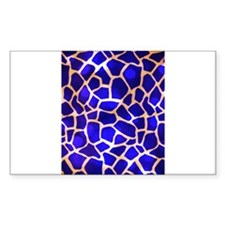 Electric Blue Giraffe Pattern Decal