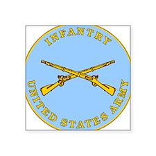 Infantry Plaque Rectangle Sticker
