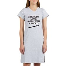 Girl With a Sword Women's Nightshirt