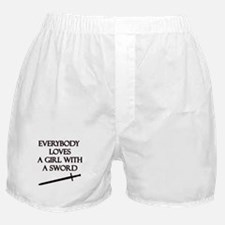 Girl With a Sword Boxer Shorts