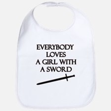 Girl With a Sword Bib