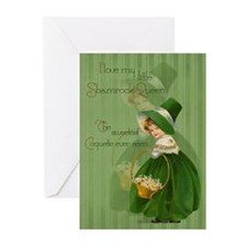 Shamrock Queen Greeting Cards (Pk of 20)