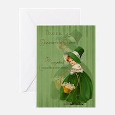 Shamrock Queen Greeting Card