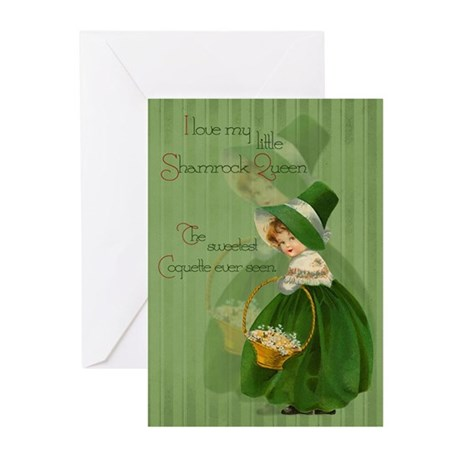 Shamrock Queen Greeting Cards (Pk of 10)