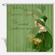 Shamrock Queen Shower Curtain