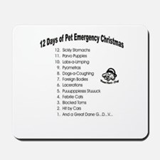Pet Emergency Christmas Design.png Mousepad