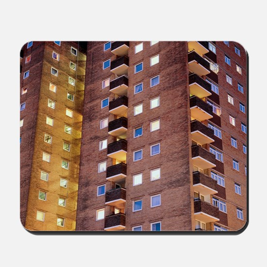 High-rise flats at night - Mousepad
