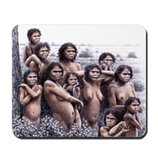 Homo ergaster females and young - Mousepad