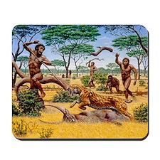 Homo ergaster hunting group - Mousepad