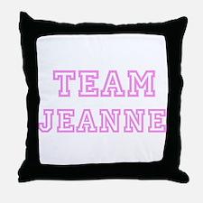 Pink team Jeanne Throw Pillow