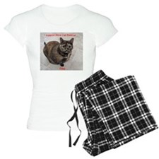 Riley-I support Blind Cat Rescue Pajamas
