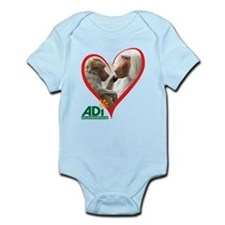 Tilin and Tina Valentine Infant Bodysuit