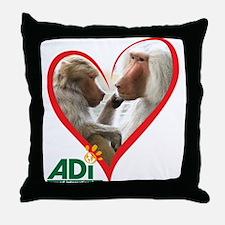 Tilin and Tina Valentine Throw Pillow