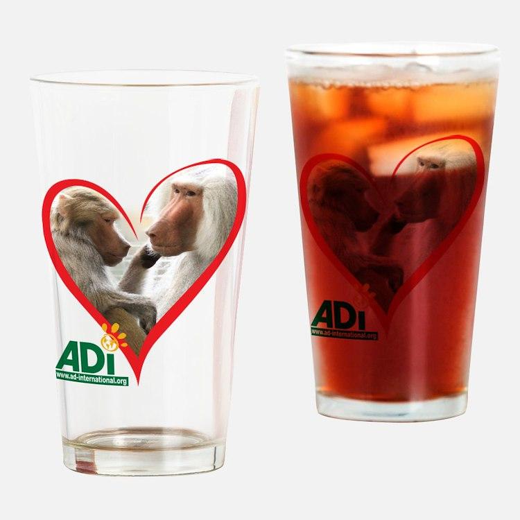 Tilin and Tina Valentine Drinking Glass