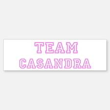 Pink team Casandra Bumper Bumper Bumper Sticker