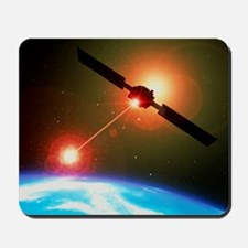 Artwork of a satellite destroying space junk - Mou