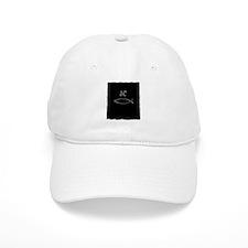 jesus christ fish symbol silver, white letters Baseball Cap
