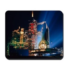 Space shuttle on launch pad - Mousepad
