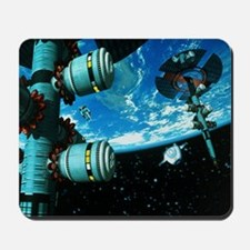Space stations - Mousepad