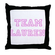 Pink team Lauren Throw Pillow