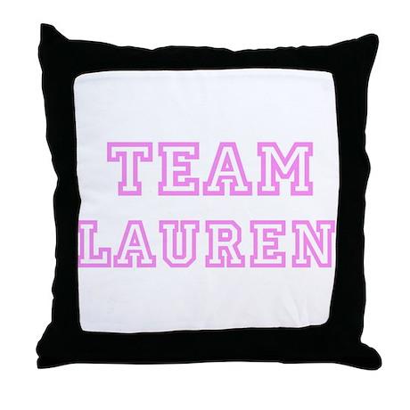 Pink team Lauren Throw Pillow