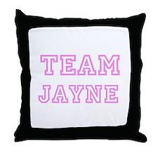 Pink team Jayne Throw Pillow