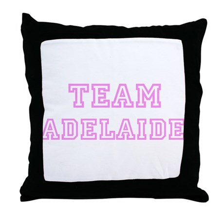 Pink team Adelaide Throw Pillow