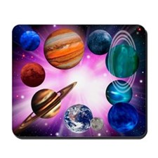 Computer artwork of planets on a large explosion -