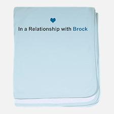 Brock Relationship baby blanket