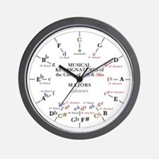 Cute Circle of fifths Wall Clock