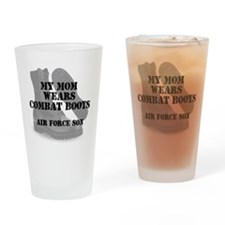 AF Son Mom Wears CB Drinking Glass
