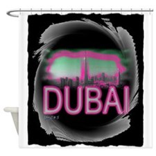 dubai art illustration Shower Curtain