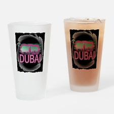 dubai art illustration Drinking Glass